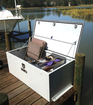 Boat dock box