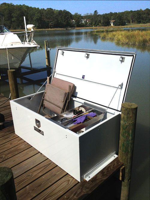 Boat dock boxes made from aluminum & DOCK BOX | BOAT DOCK BOX | DOCK SUPPLIES | BOAT STORAGE BOX | MARINR ...