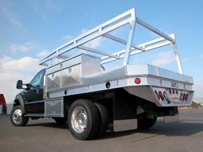 Custom Tool Bo Built By Highway Proudcuts Aluminum Truck Flatbed With Lumber Rack
