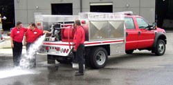 Fire truck bodies by Highway Products, Inc.