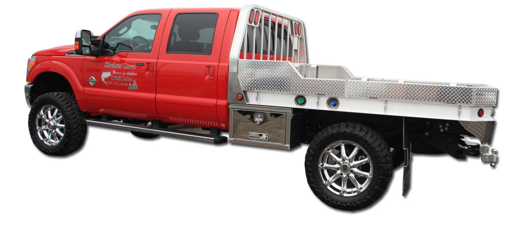 Dog In Truck Bed On Highway