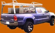 Lumber rack for a pickup truck built by 1-800-TOOLBOX.