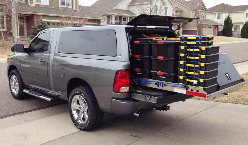 truck bed slide out cargo tray for pickup trucks