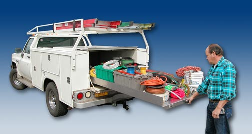Roller Coaster Cargo Slides For Services Bos Utility And Pickup Trucks By Highway