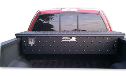 Low profile black toolbox