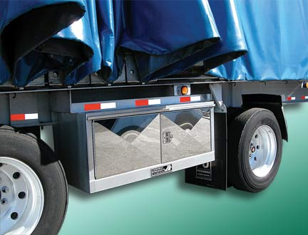 Semi truck tarp and chain underbody tool boxes by Highway Products. & Truck Tool boxes for Light Truck to Semi Truck Tarp u0026 Tie-down Storage.