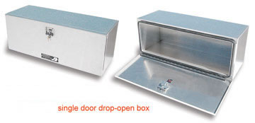 under bed tool boxes made from aluminum for semi trailers and trucks built by highway products